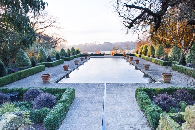 Winter in the formal Italianate garden at Borde Hill