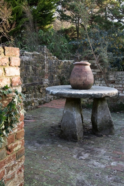 Stone table in the old potting sheds