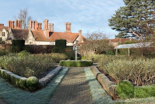 The rose garden in winter