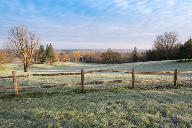 View over the South Park at Borde Hill