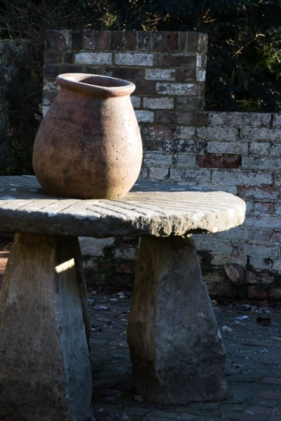 Millstone table in the old pottong sheds