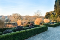 Lower end of the Italianate garden overlooking open countryside